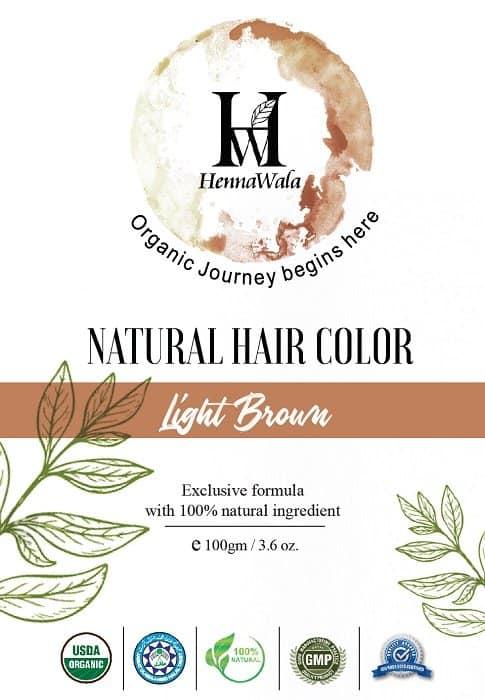 Henna hair colour light Br